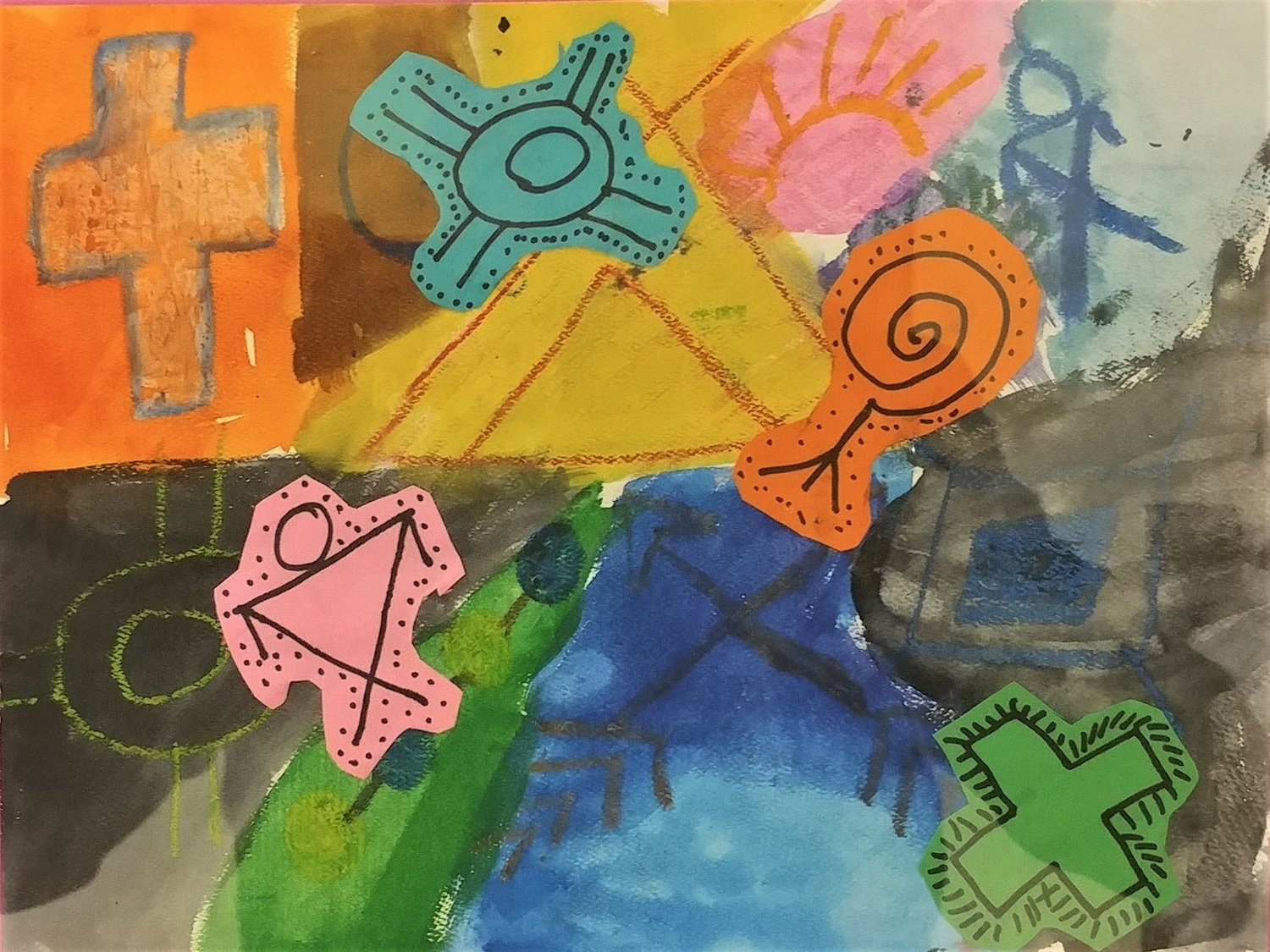 Symbol painting, by Jesus Lozoya, third grader at Doña Ana Elementary School.