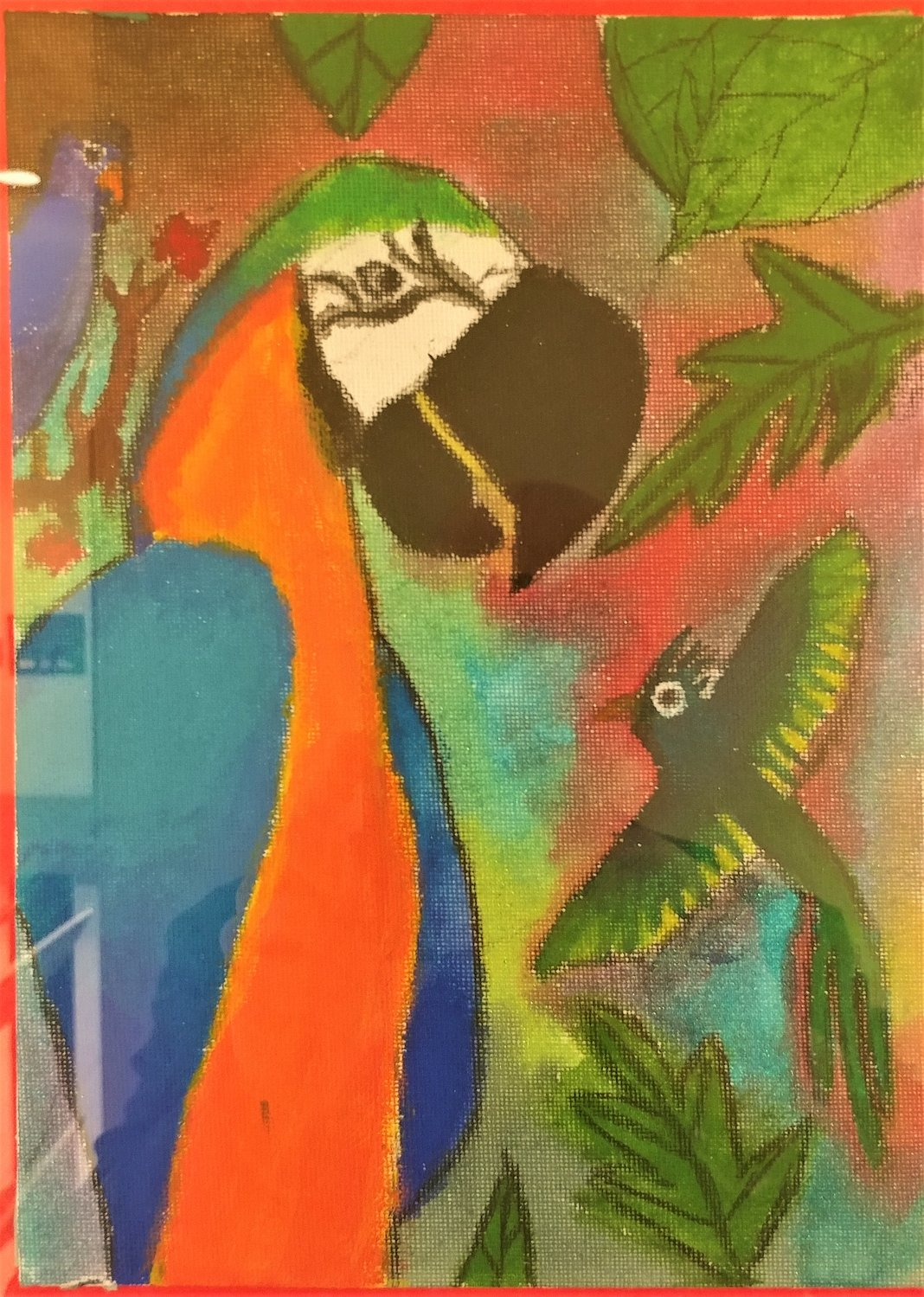 Parrot, by Tito Flores, fifth grader at University Hills Elementary School.
