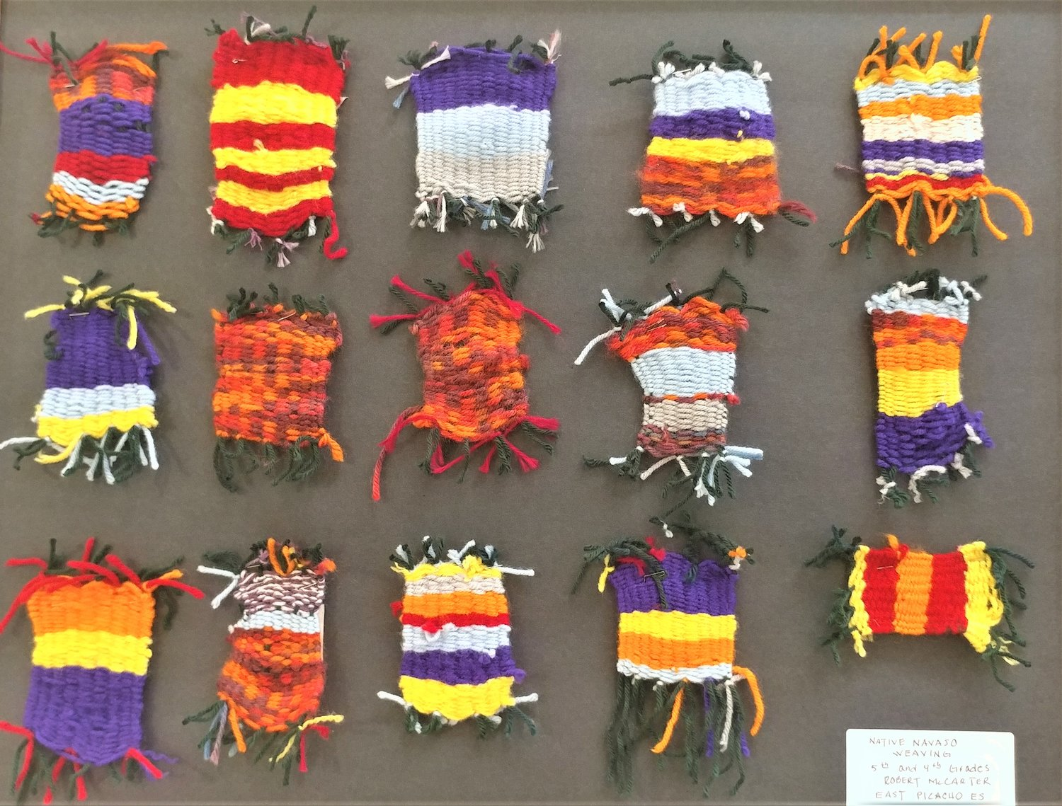 Native Navajo Weaving, by fifth and sixth graders at East Picacho Elementary School.