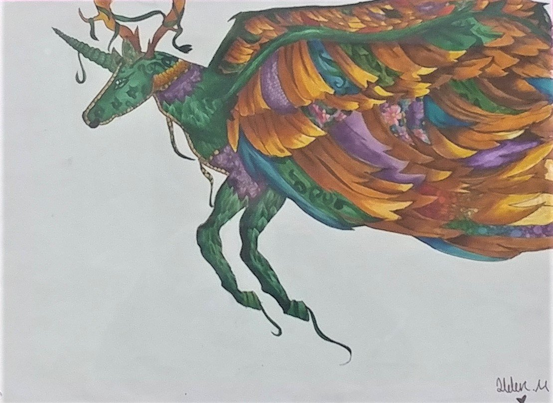 Alebrije, by Helen Moreno, sixth grader at White Sands School.