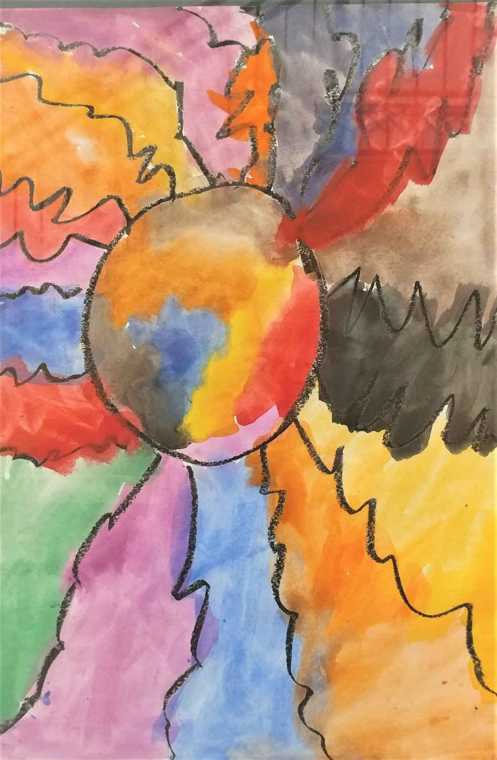 Rainbow and Cloud Flower, by Emry Kelly, kindergarten student at Sonoma Elementary School.