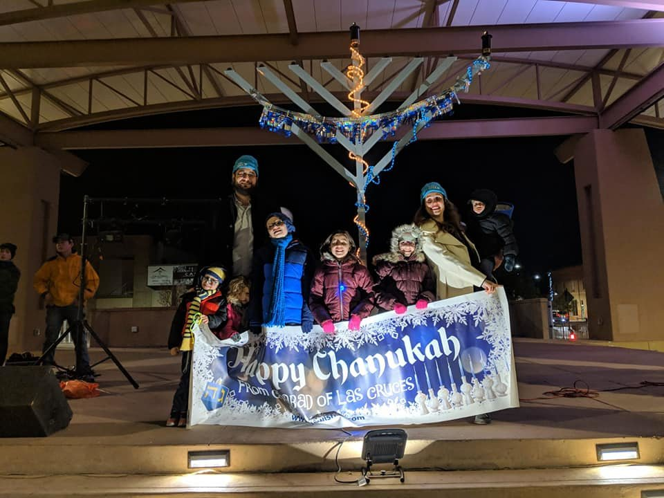 Photo from Chabad of Las Cruces' 2018 Chanukah celebration