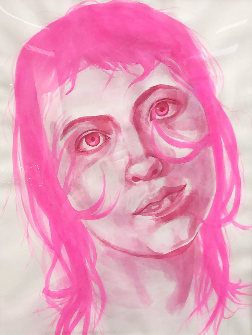"""Self Portrait (Pink),"" by Raquel Madrigal"