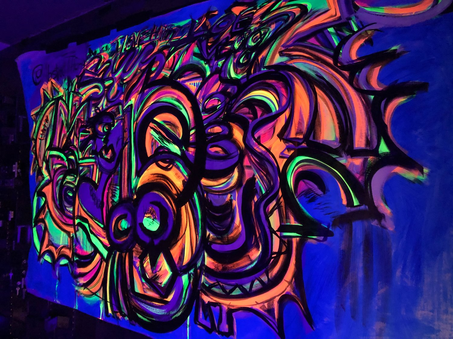 Tiffany Figueroa's abstract glows in the dark.