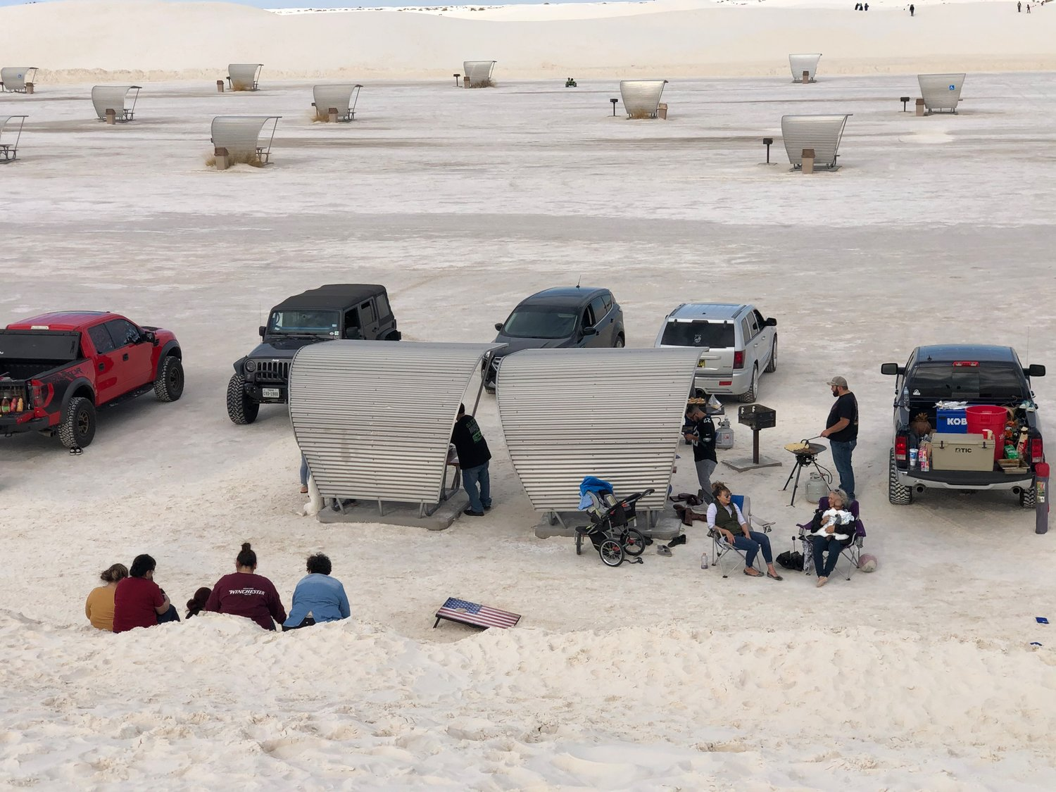 The picnic area at White Sands has seen improvements thanks to entrance fees collected over the years.