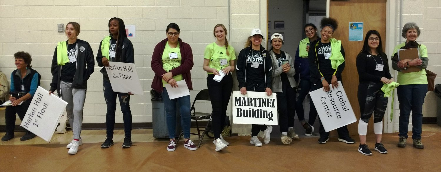 Members of WNMU Women's Basketball Team volunteered at last year's EYH to help students find their way around the Western New Mexico University campus.