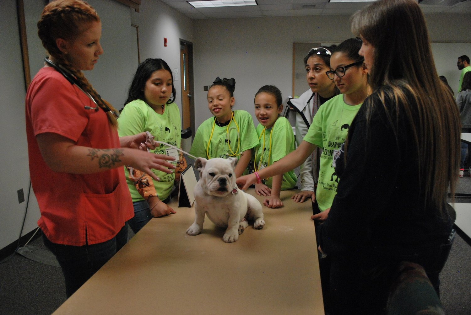 At last year's EYH, students learned about veterinary practice with live animals and staff from the Gila Animal Clinic.