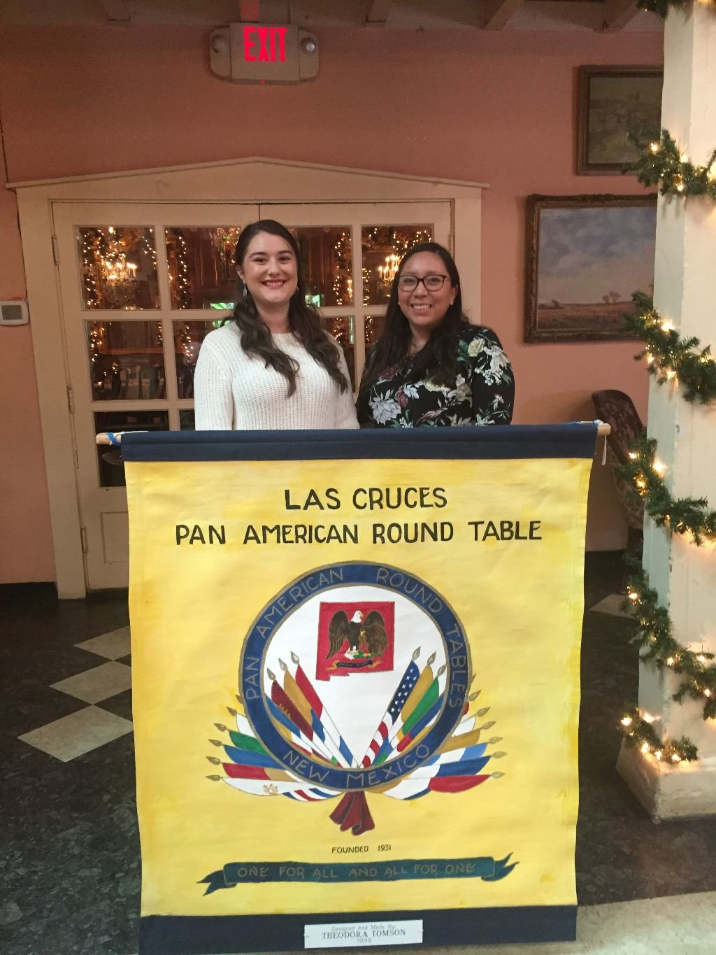 The Las Cruces Pan American Round Table fall 2019 NMSU scholarship recipients, Estela Brown, left, is a Spanish major, and Josephina Sanchez, a communication disorders and foreign language major.
