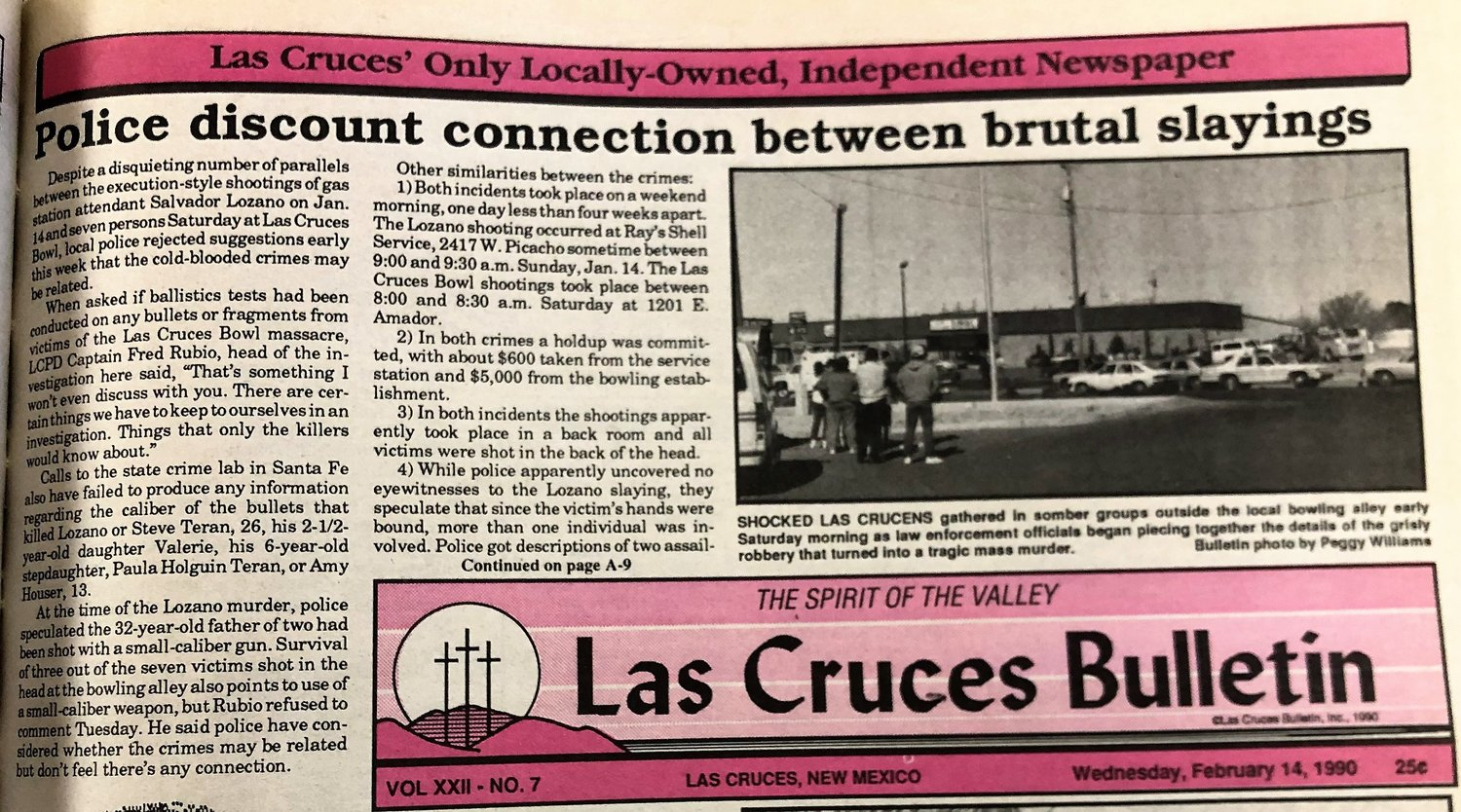 Some of the biggest headlines across Las Cruces continued through the year as investigators looked into the shootings of seven people at a local bowling alley.