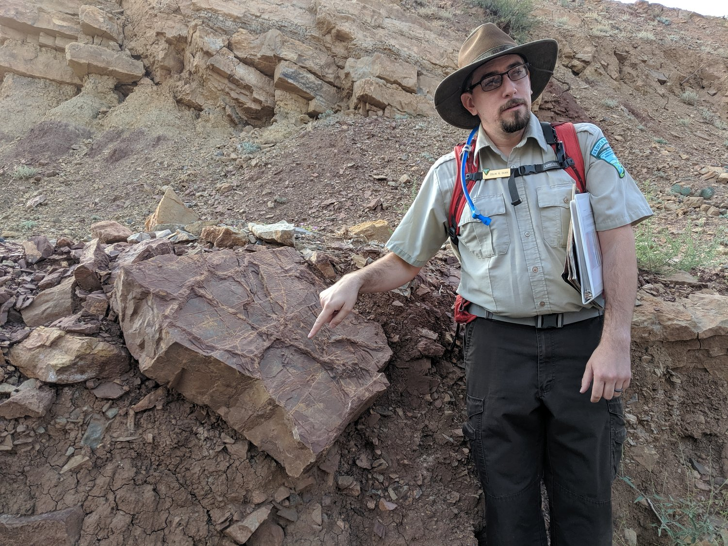 Paleontologist Colin Dunn leads guided hikes at Prehistoric Trackways National Monument every third Saturday. Here, he talks about some of the things you can find on the way to the Discovery Site.