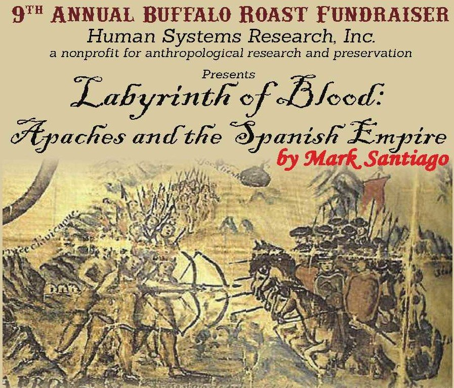 """Labyrinth of Blood: Apaches and the Spanish Empire,"" by author Mark Santiago, book cover"