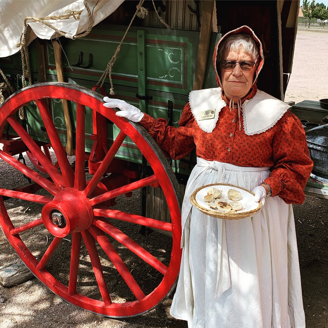 1)Nancy Clegg, one of the Museum's volunteers, will be among two chuck wagon crews making tasty samples.