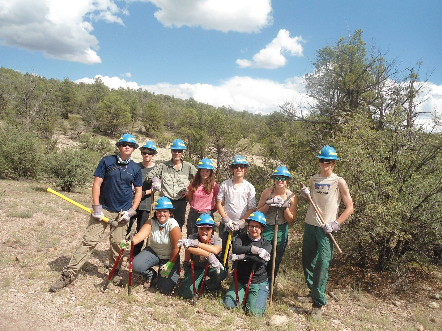 NOLS volunteer participants on the Little Bear Trail No. 729.