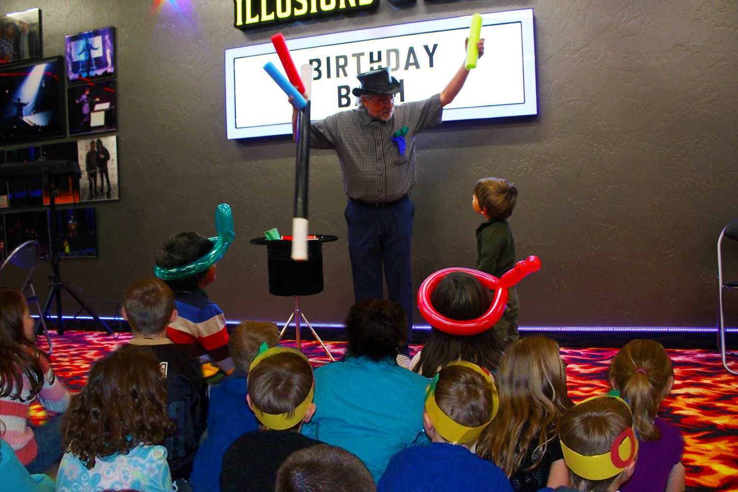 Kid Shows Very Colorful Stage Schools Color Me A Hat Magic Trick // Illusion