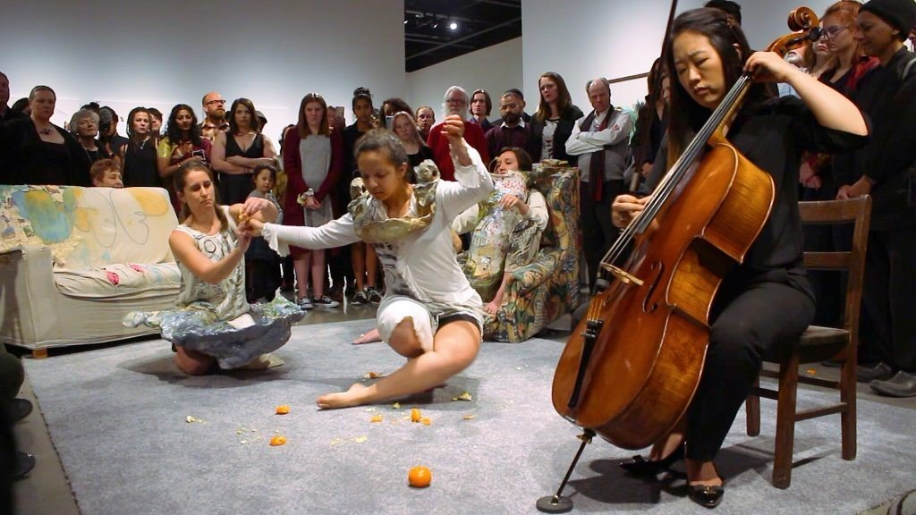 """Little Labors"" a video performance by Jessica Jackson Hutchins."