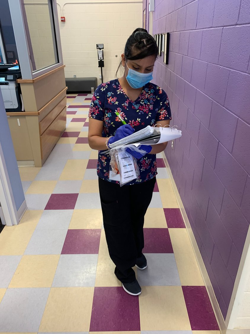 Medical Assistant Brittney Trinidad on the go