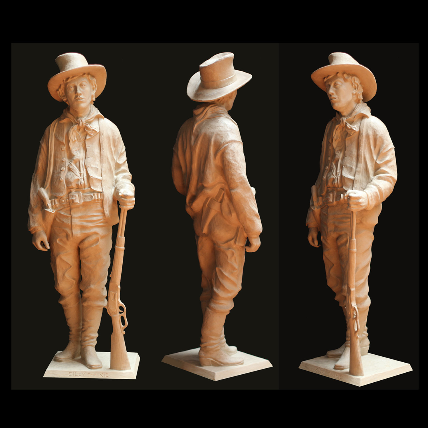 Bob Diven's Billy the Kid sculpture.