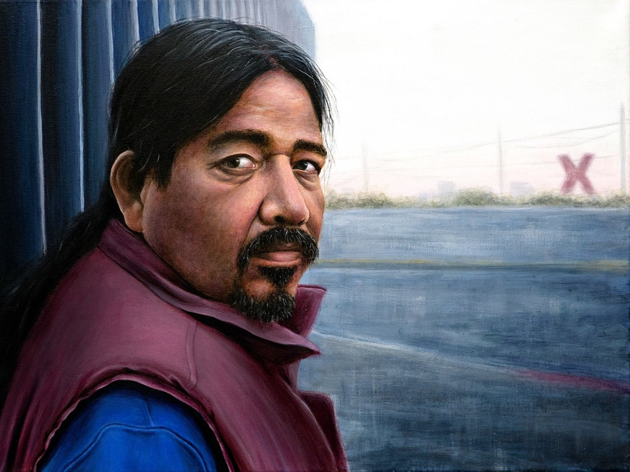 "NMSU art student, Analinda Gonzalez's painting ""Separated"" inspired by her father's deportation."