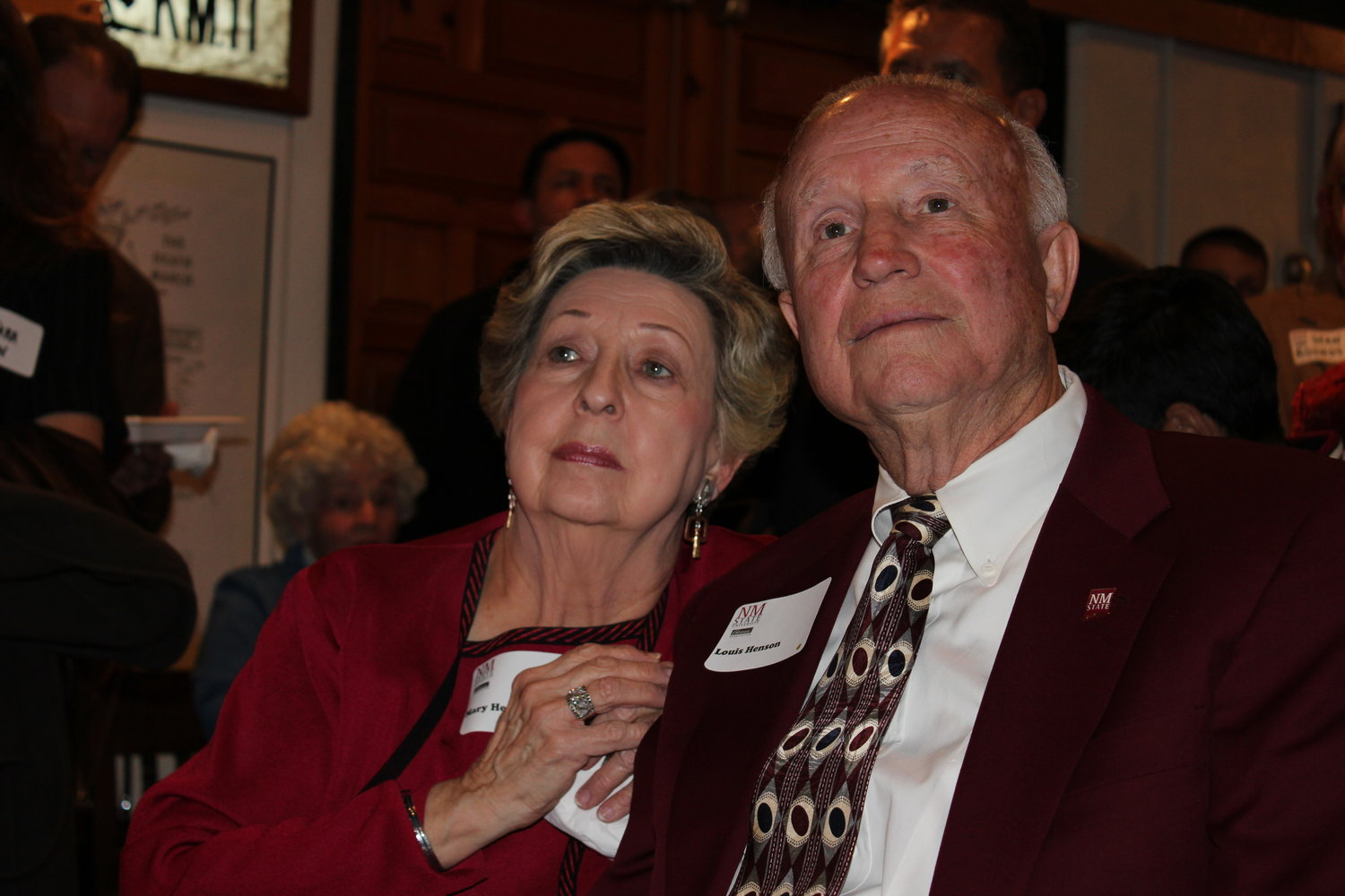 This photo of Lou Henson and his wife, Mary, was taken at his 80th birthday celebration in Santa Fe in 2012.