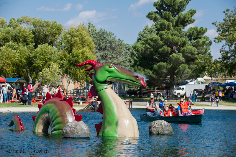 Magellan the Dragon is one of the most popular attractions at the Renaissance ArtsFaire.