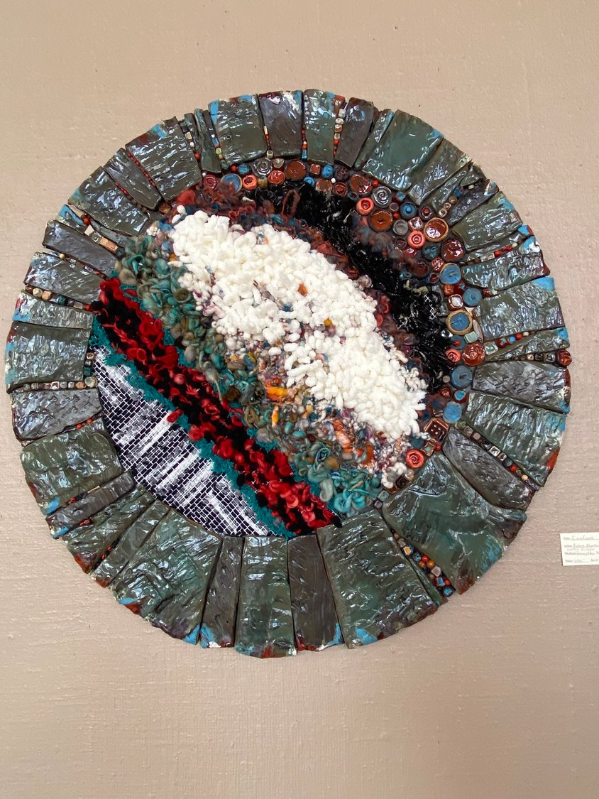 """Confined,"" by Potters' Guild of Las Cruces member Vickie Morrow and fiber artist Kathy Baker, won first place in the Potters' Guild's 2020 ""Fire and Fiber United"" art exhibit."