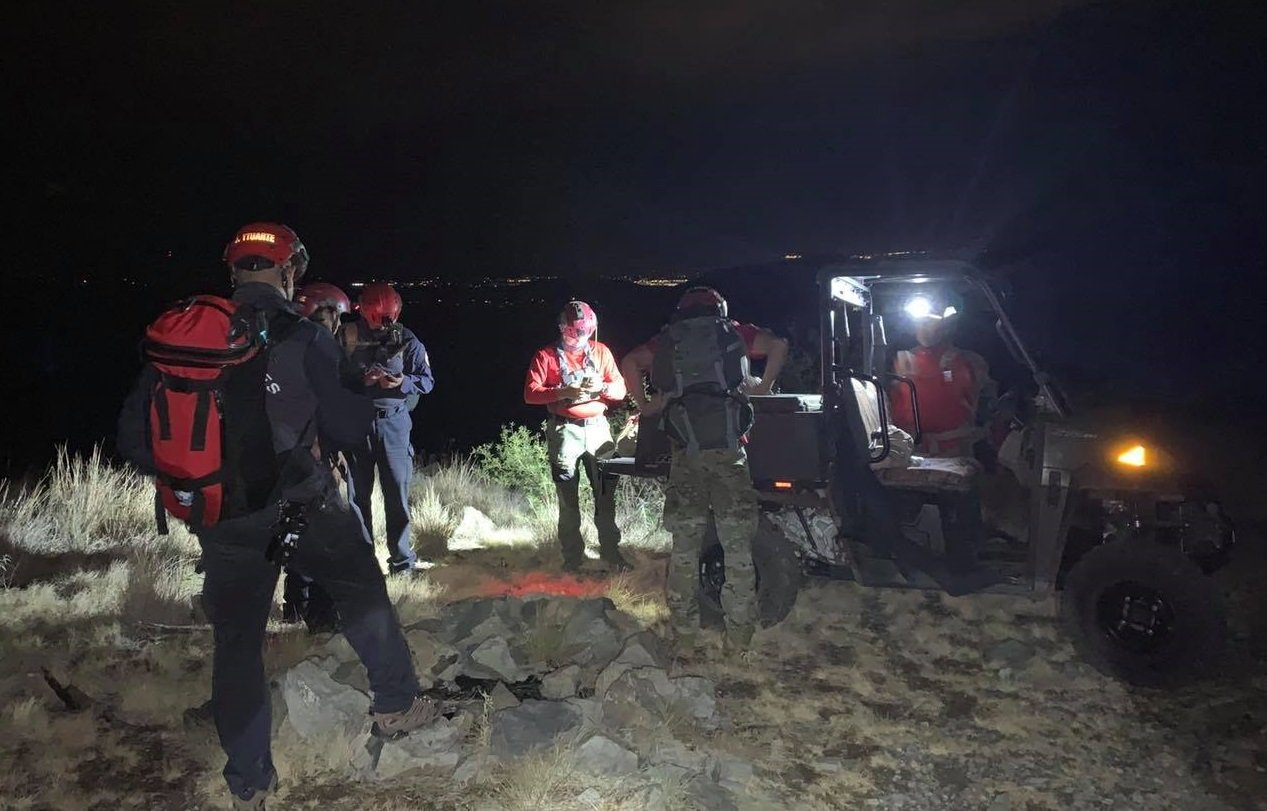 Members of the Las Cruces Fire Department and Mesilla Valley