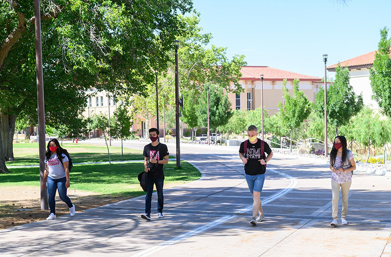 Nmsu Reminds Campus Visitors That Masks Social Distancing Are