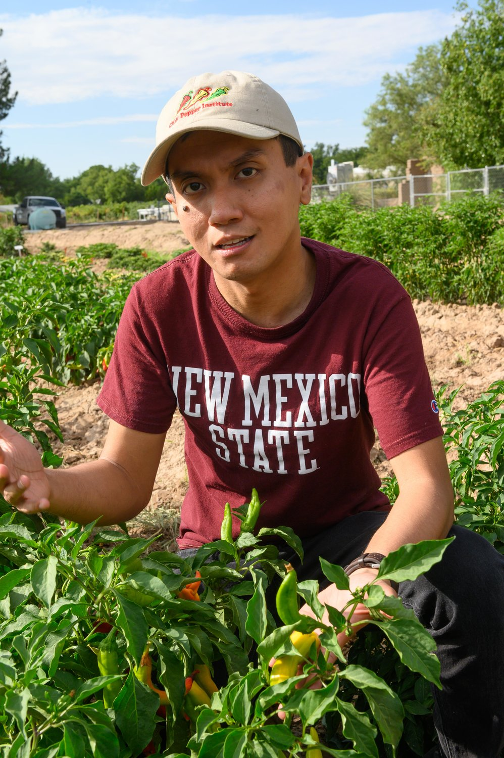 Dennis Nicuh Lozada, an assistant professor in the Department of Plant and Environmental Sciences at New Mexico State University, will lead the NMSU Chile Pepper Breeding and Genetics Program, housed at the Fabian Garcia Science Center in Las Cruces.