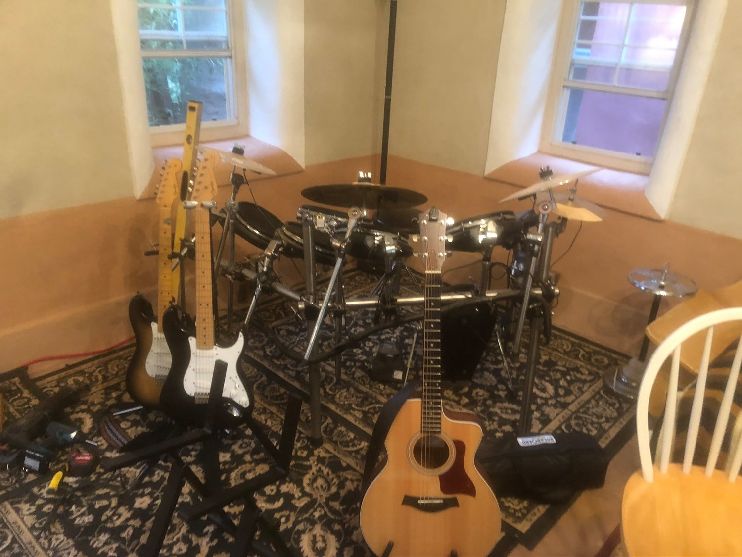 The music room at the Black Range Lodge in Kingston is ready for a musical invasion in early September.