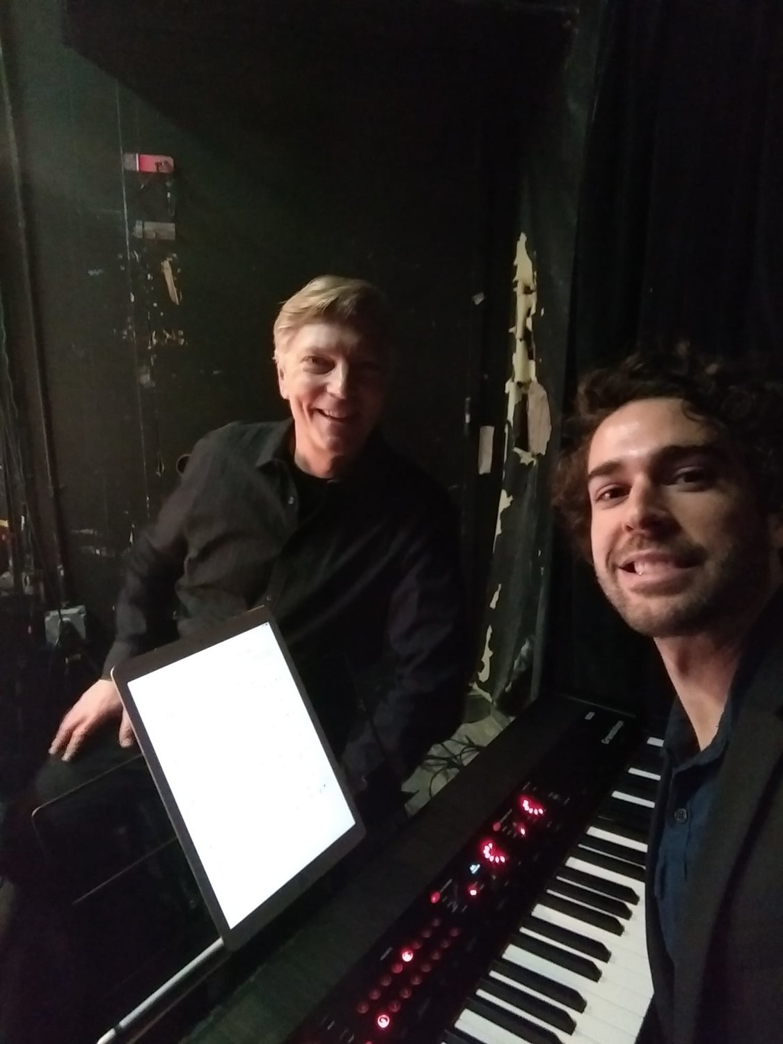 Mark Klett, right, with British composer and conductor Alastair King in New York City.