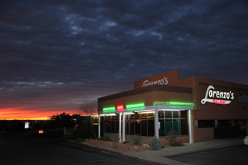 Lit by neon and a classic Las Cruces sunset, Lorenzo's Italian restaurant has served thousands of customers during its 25 years.