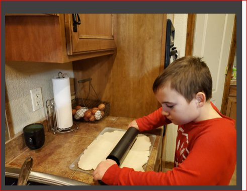 Doña Ana Elementary School fourth grader Logan Fetherlin created a PowerPoint on how to make sopapillas.