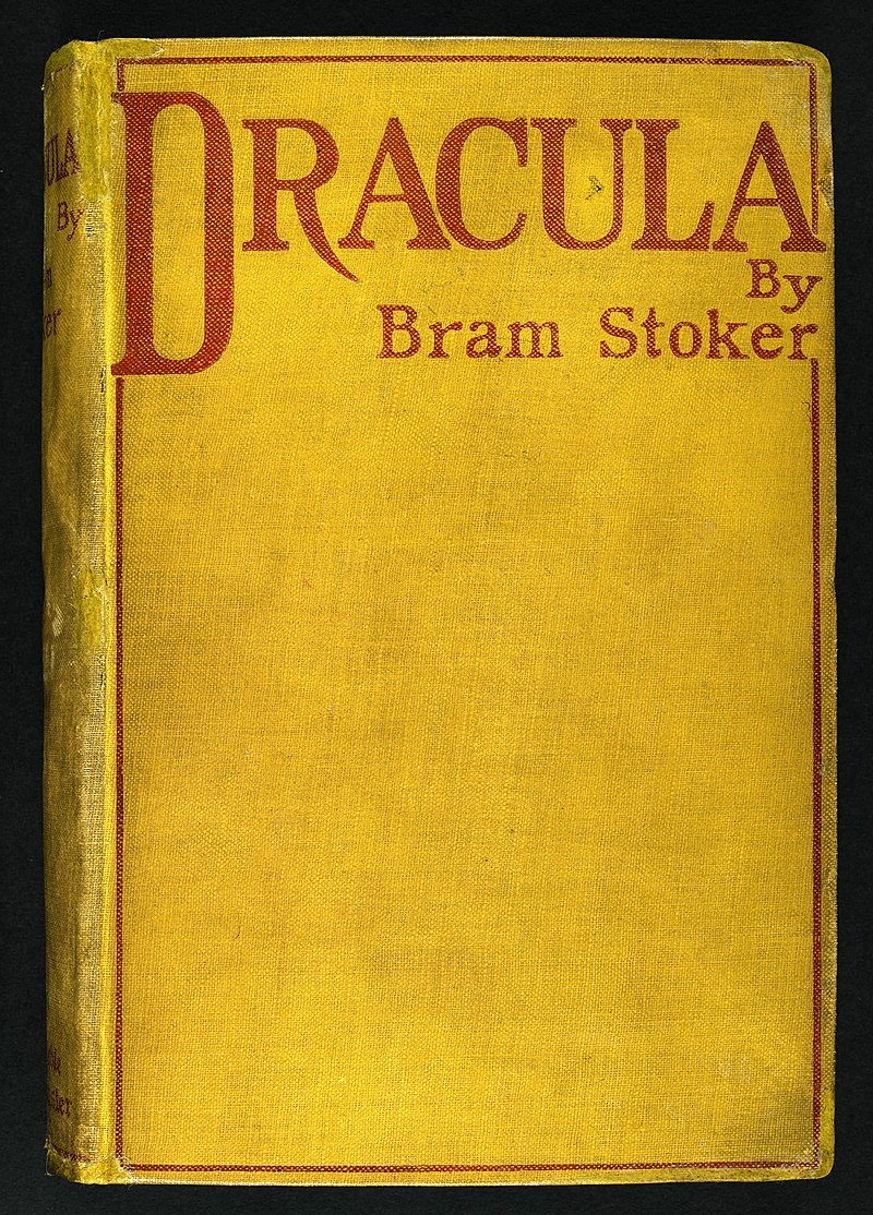 "The cover of the first edition of ""Dracula,"" published May 26, 1897"