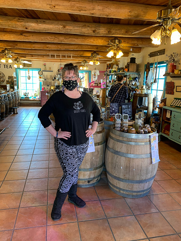 In Mesilla, Old Barrel Tea & Spice Company's owner Morgan Switzer enjoys the aromatic ambiance of her business.