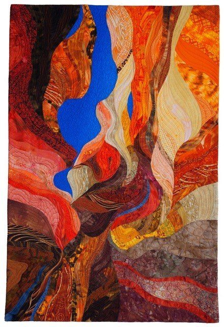 "Vicki Conley won first place in the Artforms Annual Members Show for ""Slot Canyon."""