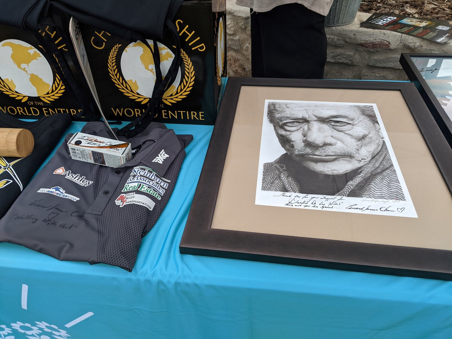 "Memorabilia from the film ""Walking with Herb"" was auctioned off to benefit Jardin de los Ninos."