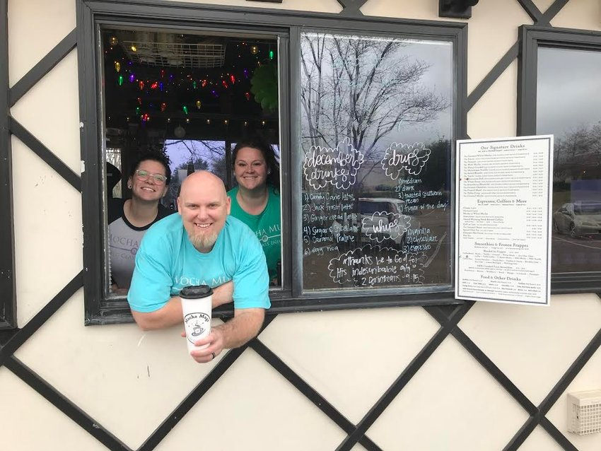 Pictured are Rebekah Peacock, Josh Cherry and Kristal Burton, just some of the team behind Mocha Mugs in Madison.