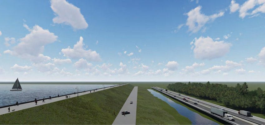 A rendering shows what the Bob Anthony Parkway would look like once completed.
