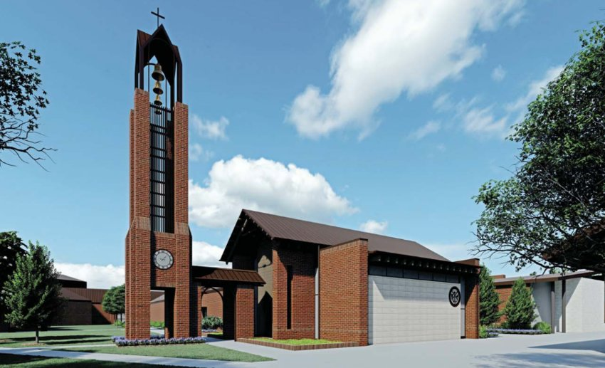 This rendering shows what the new chapel at St. Andrew's Episcopal School will look like once built.