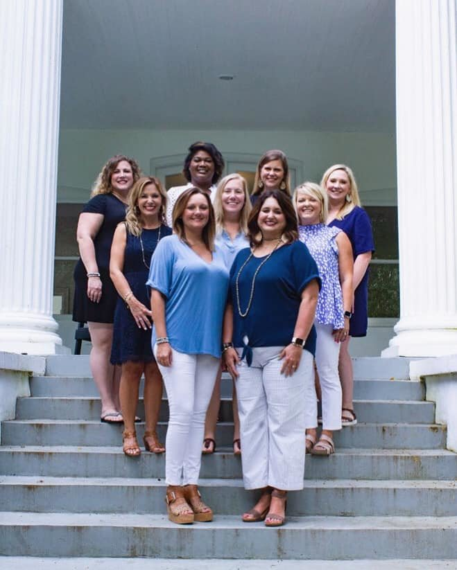 The 2020-2021 Junior Auxiliary of Madison County board iincludes: (Front) Amanda Culbertson, VP; Amy Cummins-President (Middle) Emily Speed, Public Relations chair; Julene Stewart, Asst. Provisional Trainer; Emily Melichar, Membership Records (Back) Alexis Wilkerson, Information Systems; LaTosha Randall, Asst. Information Systems; Kristy Daniels, Corporate Sponsorship; and Rebecca Bagwell, Provisional Trainer. Not Pictured are Ruth Eiland, Treasurer; Julia Jesuit, Asst. Treasurer; Jennifer Coate, Recording Secretary; Sara Cotten, Project Chair; Vanessa    Piel, Corresponding Secretary; and Kizzie Small, Asst. Member Records.