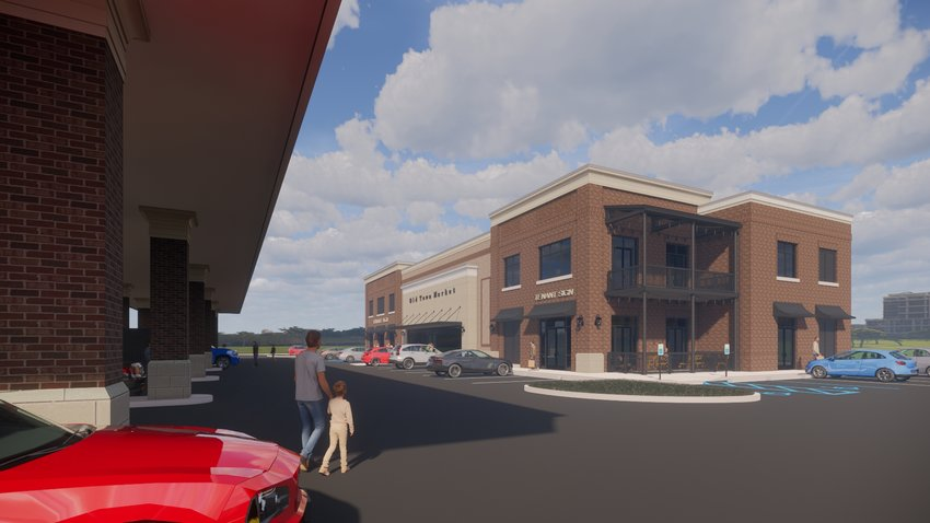 A rendering shows what Old Town Market will look like once constructed.