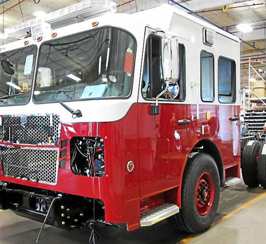 A new ladder fire truck to help provide fire protection to the Madison County Megasite which will be home to an Amazon fulfillment center and other prospective tenants would cost between $1.2 and $1.3 million, officials said.