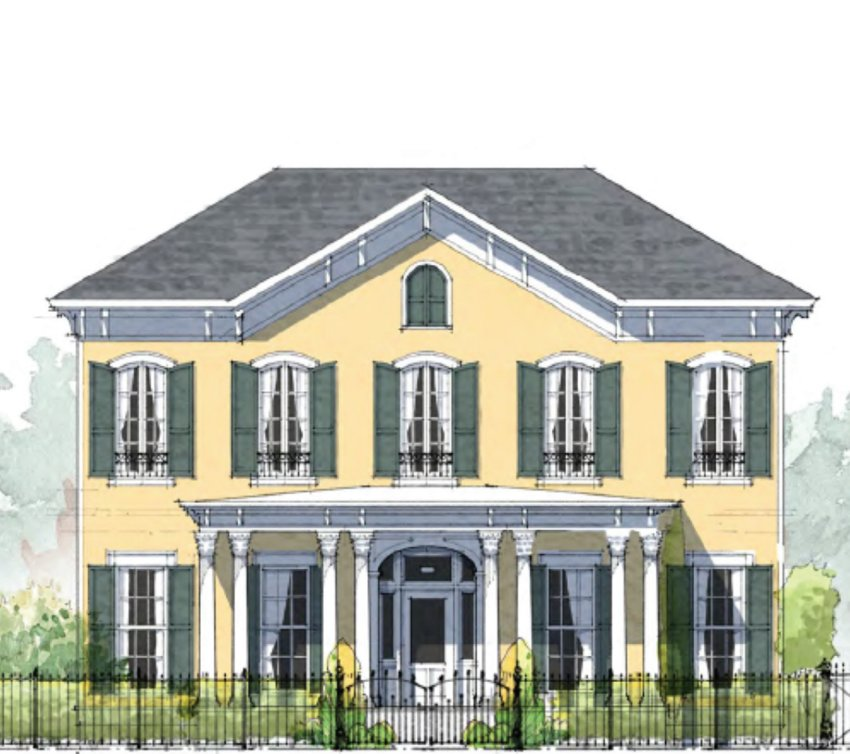 A rendering shows one home example planned for The Village at Madison.