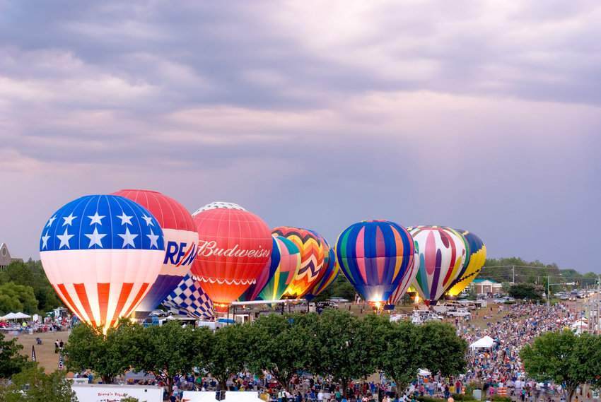The annual Ridgeland Balloon Glow draws nearly 10,000 people to Northpark each year for the Fourth of July holiday.