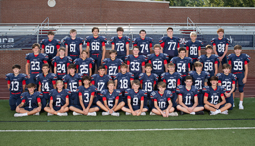 Pictured, left to right, are (Back row)  #60 Hayden Mize, #61 Trace Rowe, #66 Cole Farris, #72 Colt Woods, #74 Jackson Wells, #77 Nick Nelson, #80 Graham Kennedy, #84 Tripp Carroll, (Third row) #23 Mack McIntosh, #24 Reagan Hood, #25 Bayler Foote, #33 Peyton Hester, #52 Bobby Edgar, #54 Frazier James, #58 Judson Hamilton, #59 Smith Street (Second row) #13 Thomas Edwards, #14 Asher Wiggins, #15 Walt Bryson, #16 Holt Adams (Not Pictured), #17 Biven Patterson, #18 Hayden Fiorito, #19 Cash Myrick, #20 Bradyn Mason, #21 Gray Hancock, #22 Walker Rives (Front row) #1 Duren Melton, #2 Ty Childress, #3 Brody Brown, #4 Brody Hillhouse (Not Pictured), #5 Trey Pentecost, #9 Towers Adams, #10 Hayes Harless, #11 Boston Sims, and #12 Pierce Ingram.