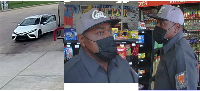 The Ridgeland Police Department is requesting the public's assistance in identifying the man pictured here who is wanted in connection to an Aug. 15 business burglary.