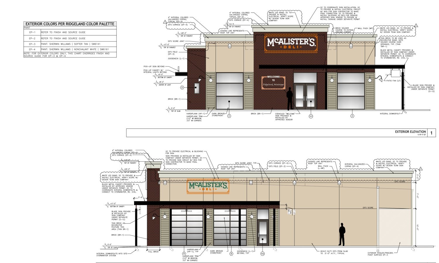 Ridgeland aldermen approved architectural plans for McAlister's Deli to locate on County Line Road.