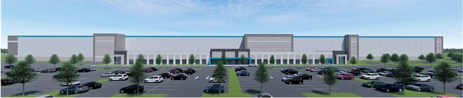 The above renderings are for a large-scale warehouse planned for the Madison County Mega Site located off Highway 22 near the Nissan automotive assembly plant. The renderings are part of an active site plan review in front of the Madison County Planning & Zoning Commission.