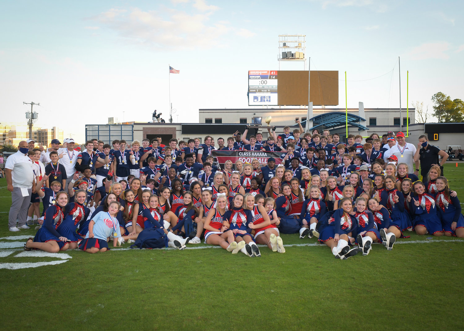 Madison-Ridgeland Academy celebrated their second consecutive MAIS Class 6A State Championship with a 41-14 victory over Jackson Academy last week.