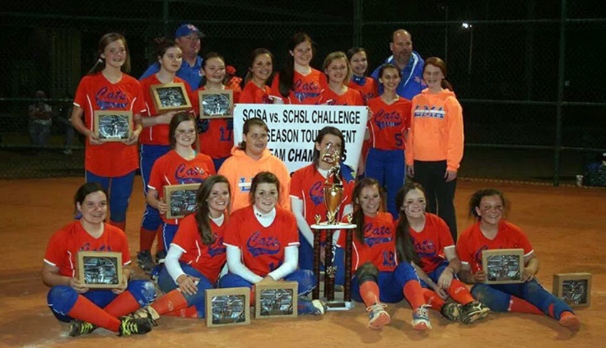 SUBMITED PHOTO.Front row, left to right, are Chellsie Hodge, Caroline Robinson, Emily Walker, Carley Tsukalas, Ann Bethea Barwick and Trinity Harrington; second row, left to right, are Marley Rogers, Aubrey Pack and Olivia Coker; back row, left to right, are Maggie Josey, Alexis McCoy, Keeley Hulse, Anne Williamson, Abbie Patrick, Ashlyn Moore, Liz Hussey, Lanie Powell and Breanna Hodge. The coaches are Dan Harrington and Rob Hussey. Jordan Gardner is not pictured. Liz Hussey was named MVP.